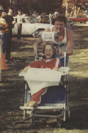 Rick and Dick Hoyt at their first marathon