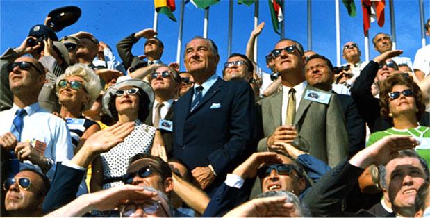 President Johnson on July 20th, 1969