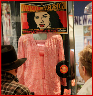 Wanda Jackson's exhibit at 'Another Hot Oklahoma Night'