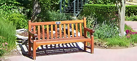 Tribute bench at Ravinia