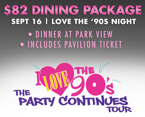 90s Night dining package