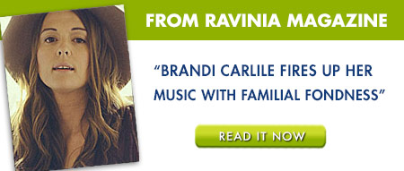Brandi Carlile on Ravinia Backstage Blog