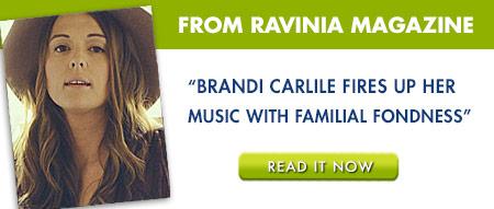 Brandi Carlile on Ravinia Backstage Blog