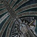 KOMPSAT-3 Satellite Image Palm Jumeirah Dubai