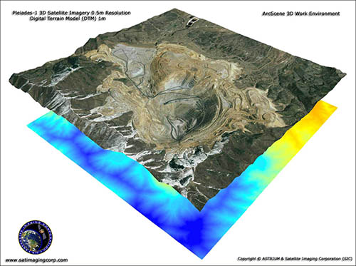 ArcScene 3D View of Bingham Canyon Copper Mine