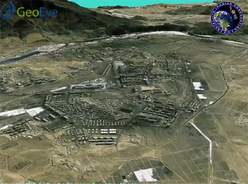 3D Terrain Flythrough Yongbyon Nuclear Site in North Kore