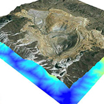 Bingham Copper Mine - 3D ArcScene