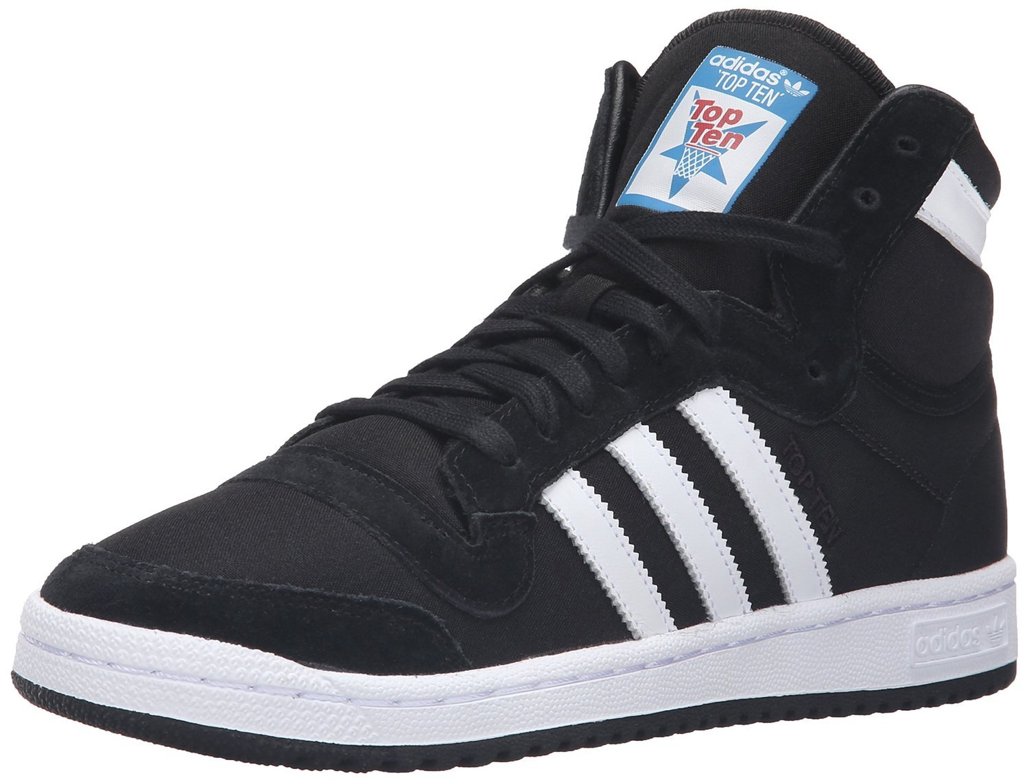 adidas mens top ten hi shoes black white b27506 ebay. Black Bedroom Furniture Sets. Home Design Ideas