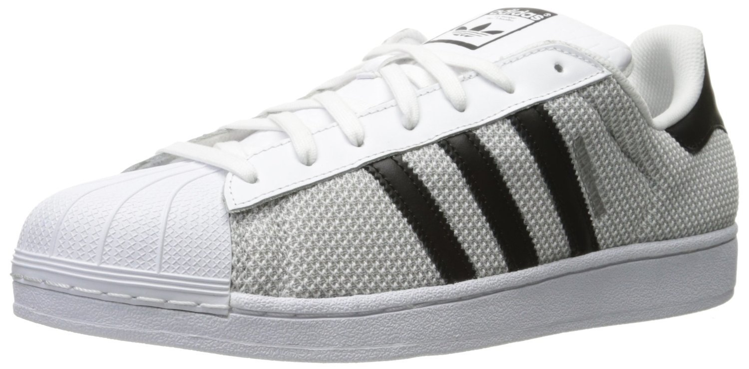 eueqn Adidas Mens Superstar Sneakers Grey/White/Black S76674 | eBay