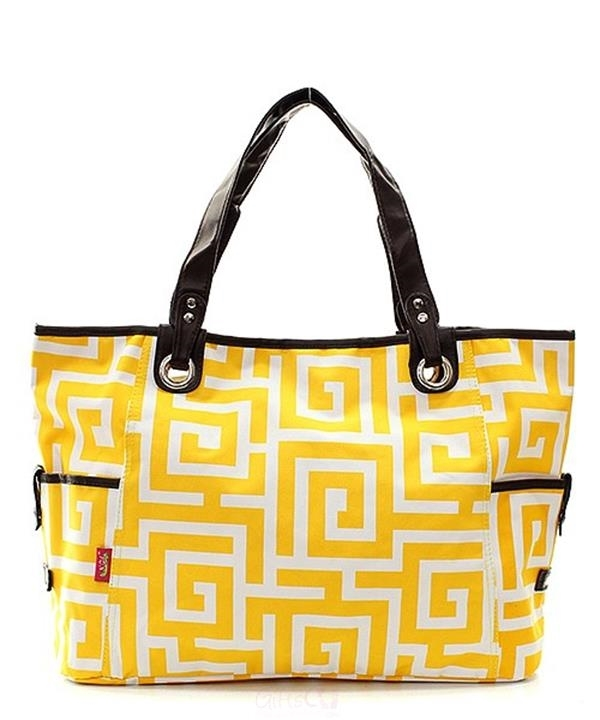 """20"""" Large Canvas Open Top Tote Bag Diaper Beach Carry On ..."""