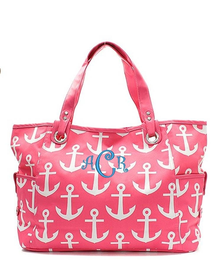 Personalized quot large canvas open top tote bag beach