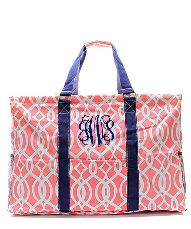 Personalized quot extra tall large utility tote bag basket