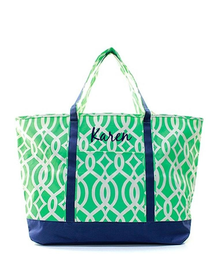 Personalized xl quot oversized beach boat tote bag