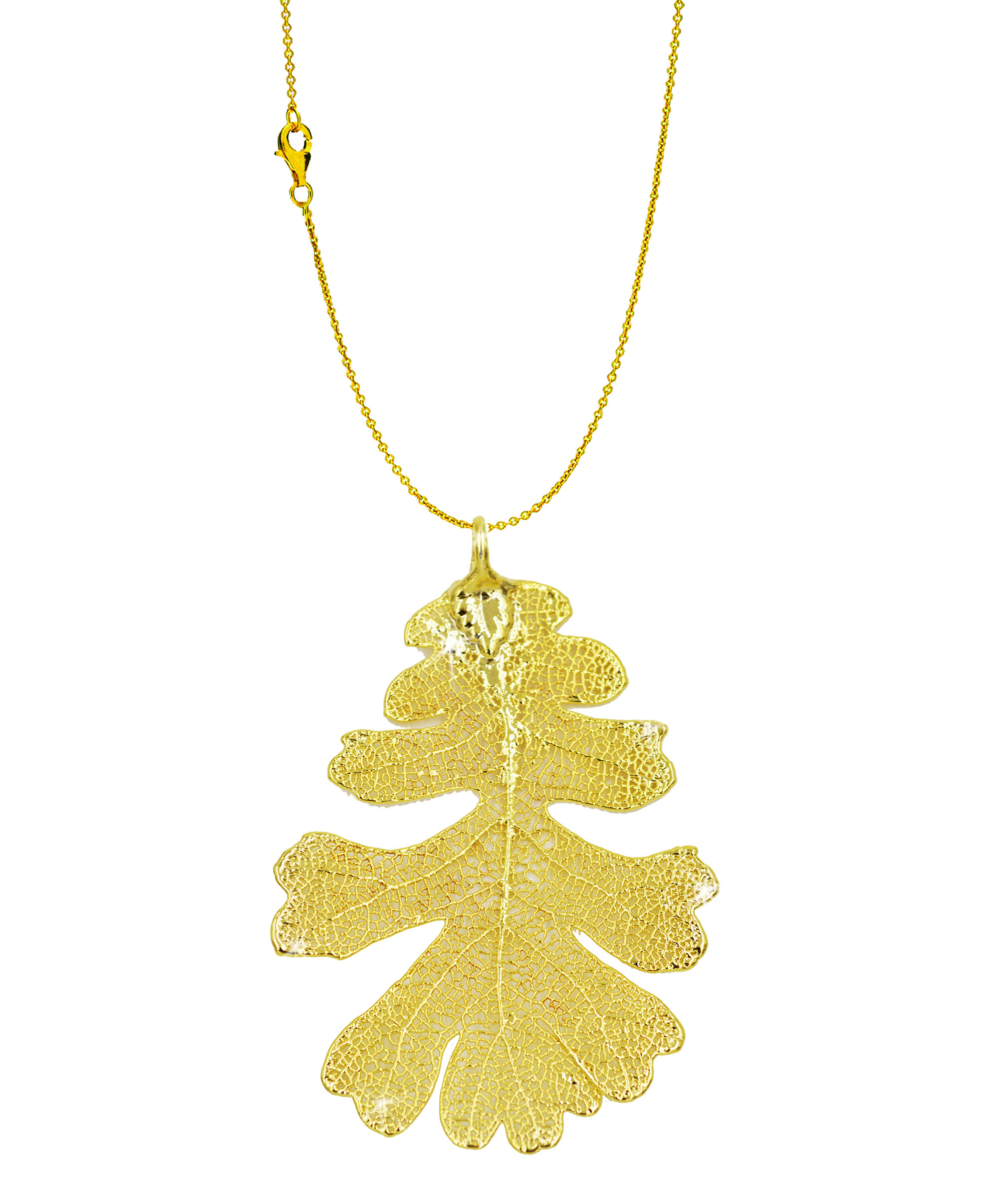 detail leaf jewelry pendant natural bodhi fashion larger gold product necklace view image real