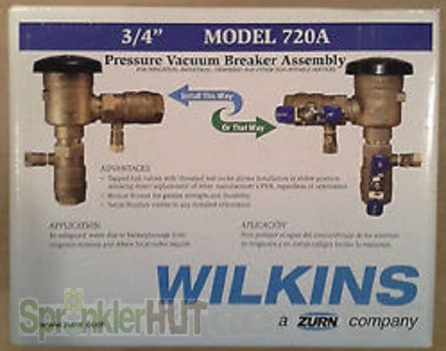 zurn wilkins 3 4 720a pvb pressure vacuum breaker backflow preventer 34 720a. Black Bedroom Furniture Sets. Home Design Ideas