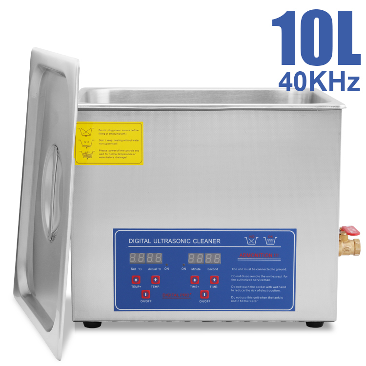 Commercial Grade Stainless Steel : HFS Commercial Grade Digital Ultrasonic Cleaner Stainless Steel 10L 2 ...