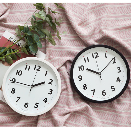 round modern wall clock non ticking silent sweep modern clock bedroom