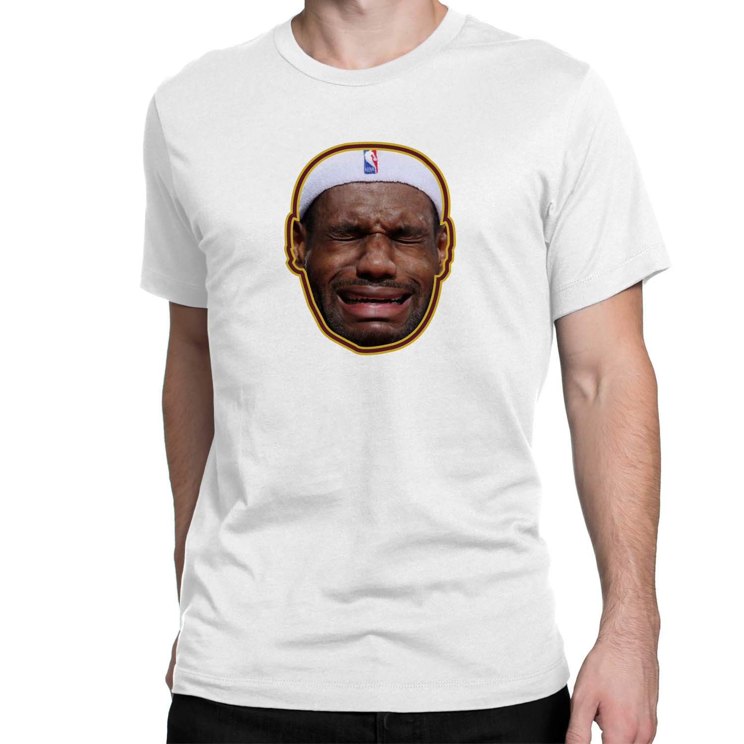 Crying Lebron James Sublimation Printed Graphic T Shirt