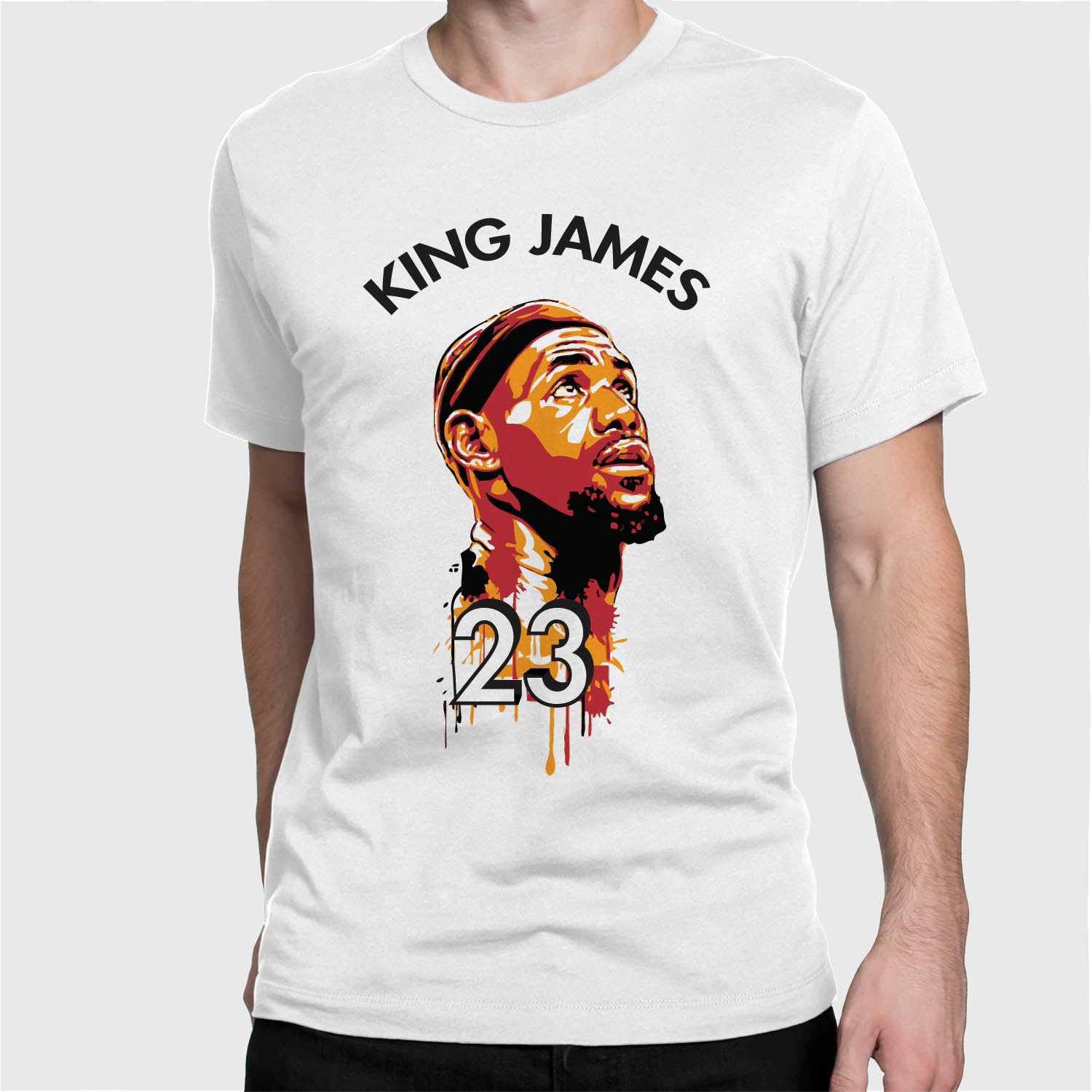 King james dope watercolor tee mens cavaliers nba finals for Lebron shirts for sale