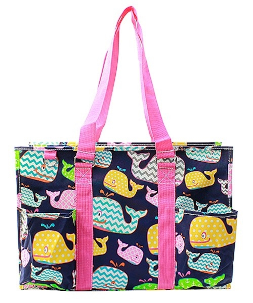 18 large zip top organizing utility tote bag canvas diaper beach baby purse ebay. Black Bedroom Furniture Sets. Home Design Ideas