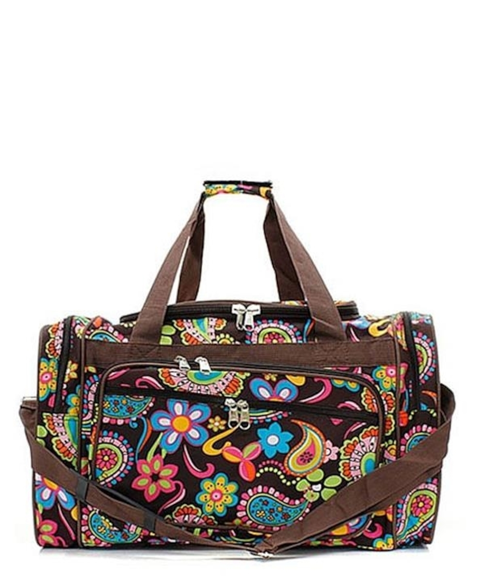 Beautiful Large 20u0026quot; Duffle Gym Tote Bag Carry On Overnight Sports Kids Girls Womens Ladies