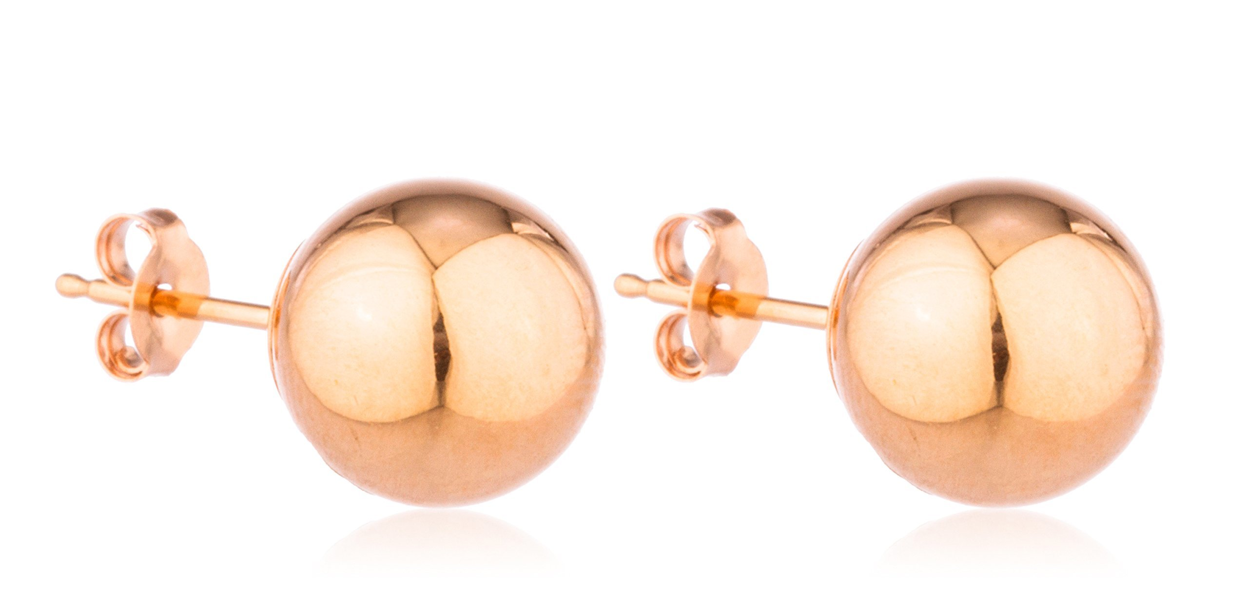 14k rose gold classic ball earrings with 14k pushbacks. Black Bedroom Furniture Sets. Home Design Ideas