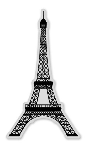 eiffel tower paris france car vinyl sticker select size. Black Bedroom Furniture Sets. Home Design Ideas