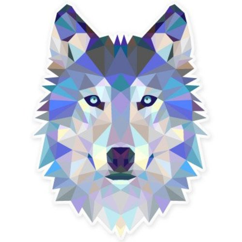 Wolf modern art design car vinyl sticker select