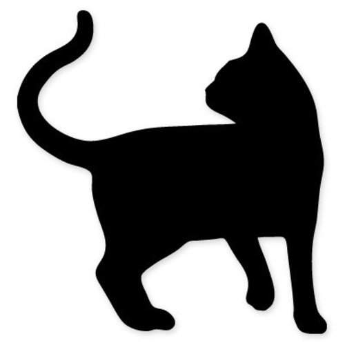 cat shape black silhouette car vinyl sticker select