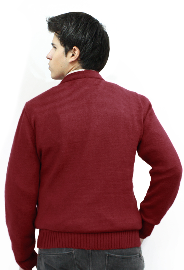 Mens Alpaca Wool Knitted V Neck Golf Cardigan Sweater Button Down ...
