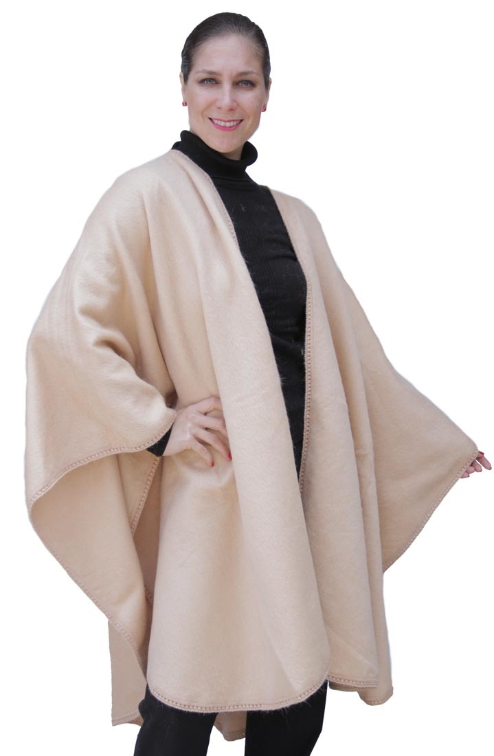 Fine-Woven-Alpaca-Wool-Cape-Ruana-Poncho-Wrap-One-Size-Colors-Available