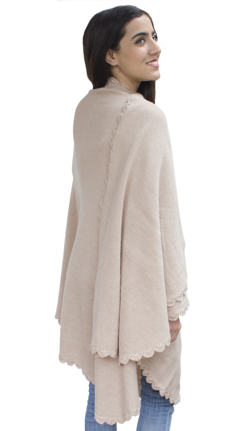 About Capes & Shawls Our Celtic Capes and Shawls are for the everyday woman who desires Irish designed and Celtic yet chic and fashionable wear. We offer a variety of yarns from merino wool to cashmere to blended.