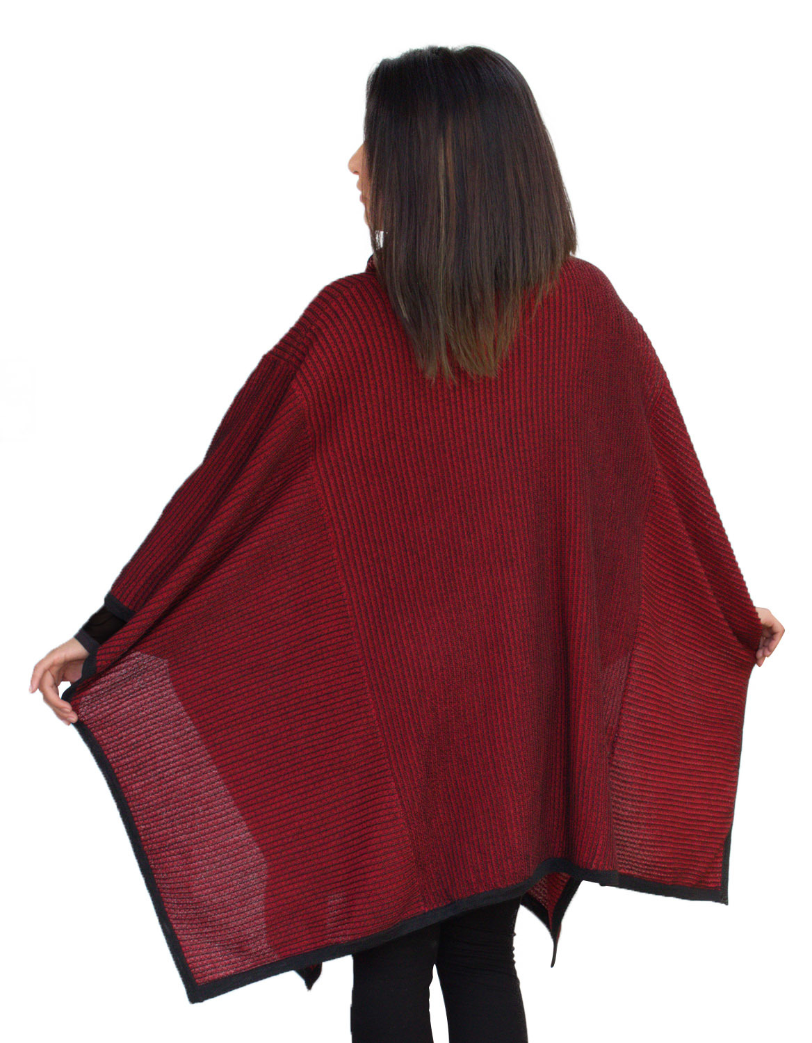 Alpaca Poncho Knitting Pattern : Womens Superfine Alpaca Wool Knitted Turtleneck Poncho