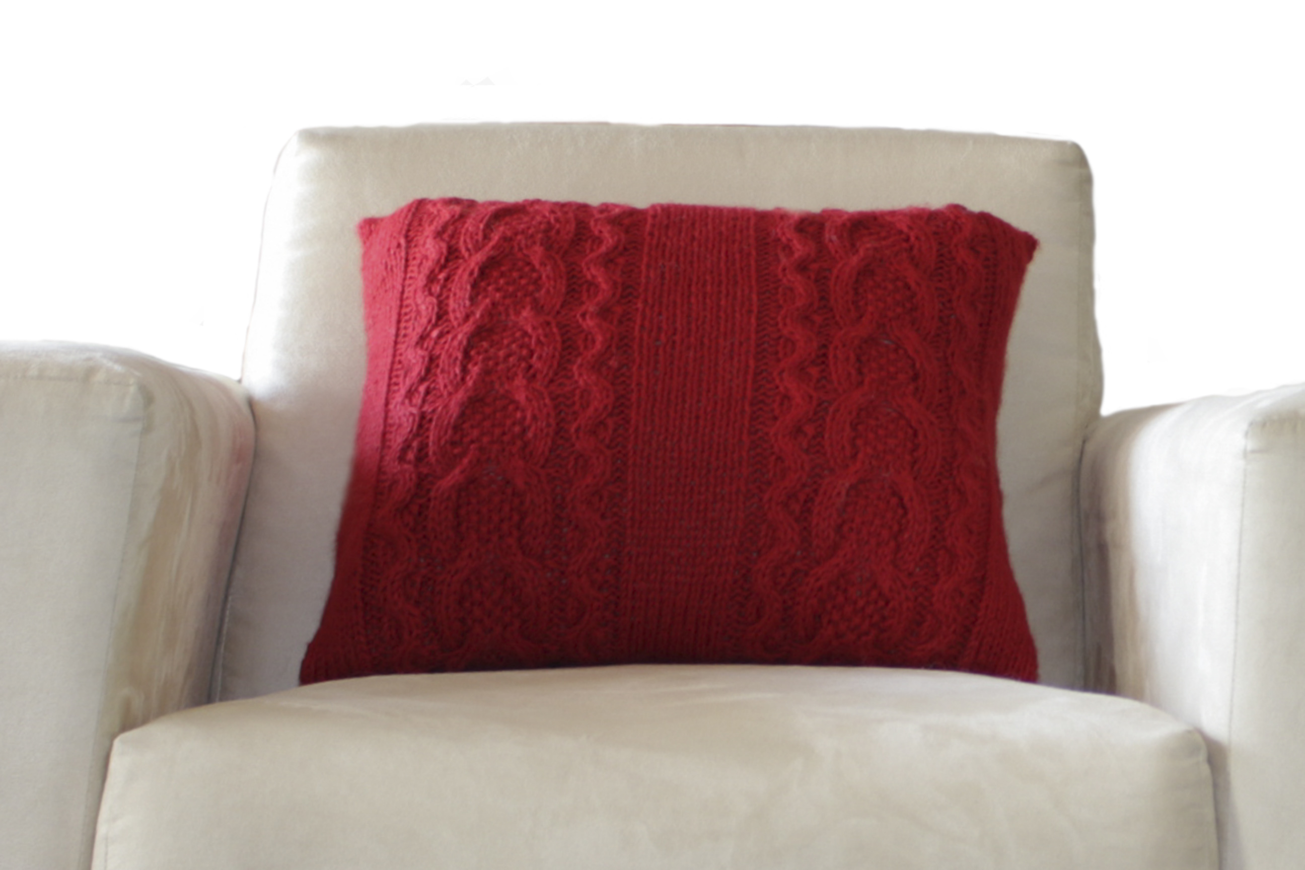 Hand knitted Alpaca Wool Decorative Double Cable Throw Pillow Cover Home Cushion eBay