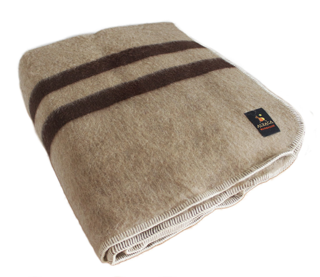 thick alpaca wool blanket camping outdoor striped soft warm peru king queen twin ebay. Black Bedroom Furniture Sets. Home Design Ideas