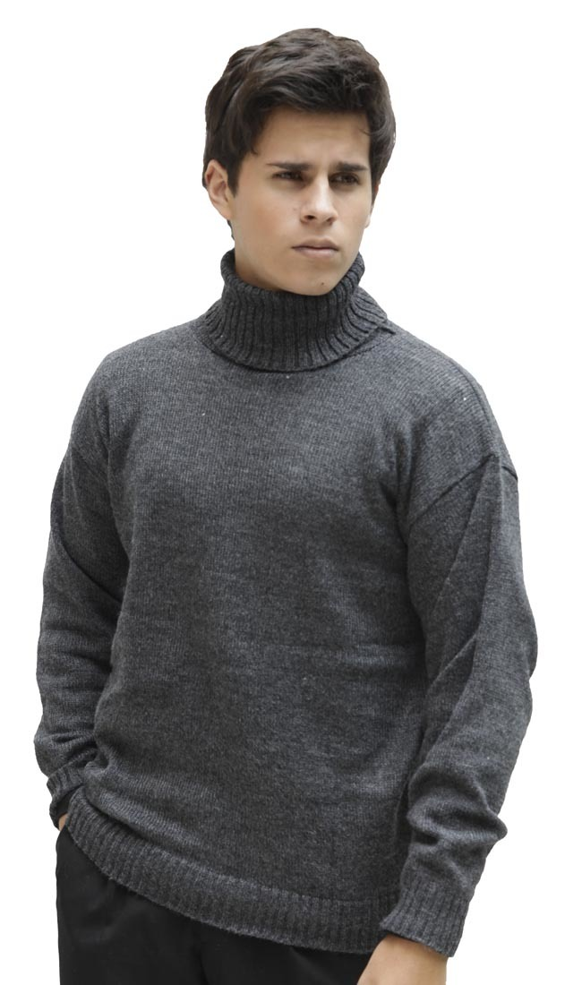 Men's Soft Warm Alpaca Wool Knitted Knit Turtleneck ...
