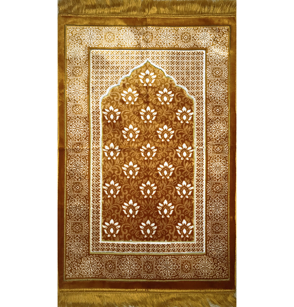 Modefa Turkish Islamic Prayer Rug Janamaz Sejadah Plush