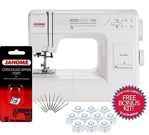 Janome hd3000 mechanical sewing machine bonus accessories for Janome hd3000