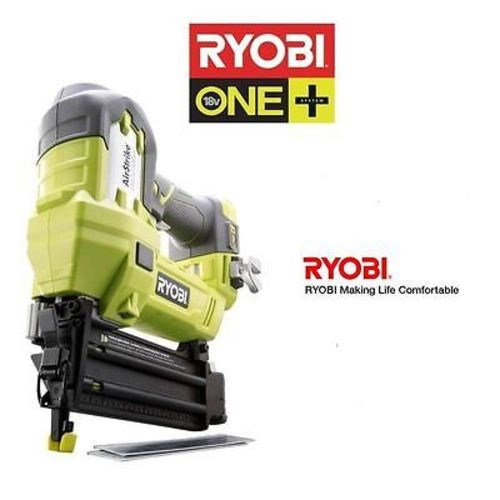 ryobi one plus 18v volt li ion 2 brad nailer bt p320 zrp320 18 guage nail gun ebay. Black Bedroom Furniture Sets. Home Design Ideas