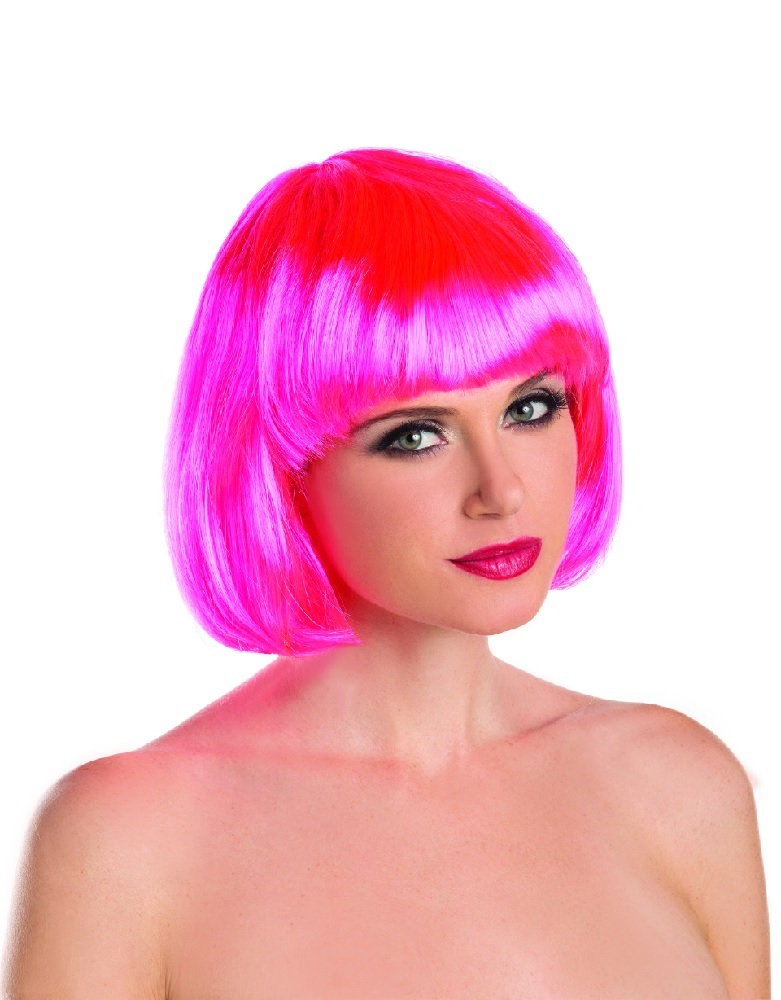 Women-039-s-Synthetic-Short-Hair-Bob-Wig-  sc 1 st  eBay & Womenu0027s Synthetic Short Hair Bob Wig w/ Bangs SEXY Halloween Costume ...