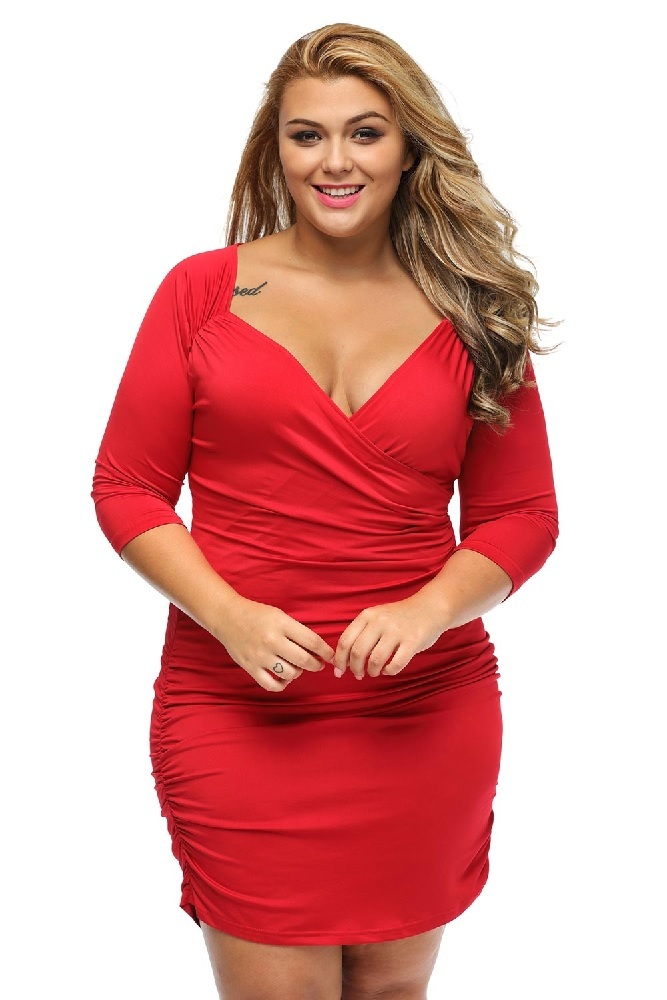 plus size clothing 3x 5x ruched bodycon party clubwear dress sexy sz 14 16 18 20. Black Bedroom Furniture Sets. Home Design Ideas