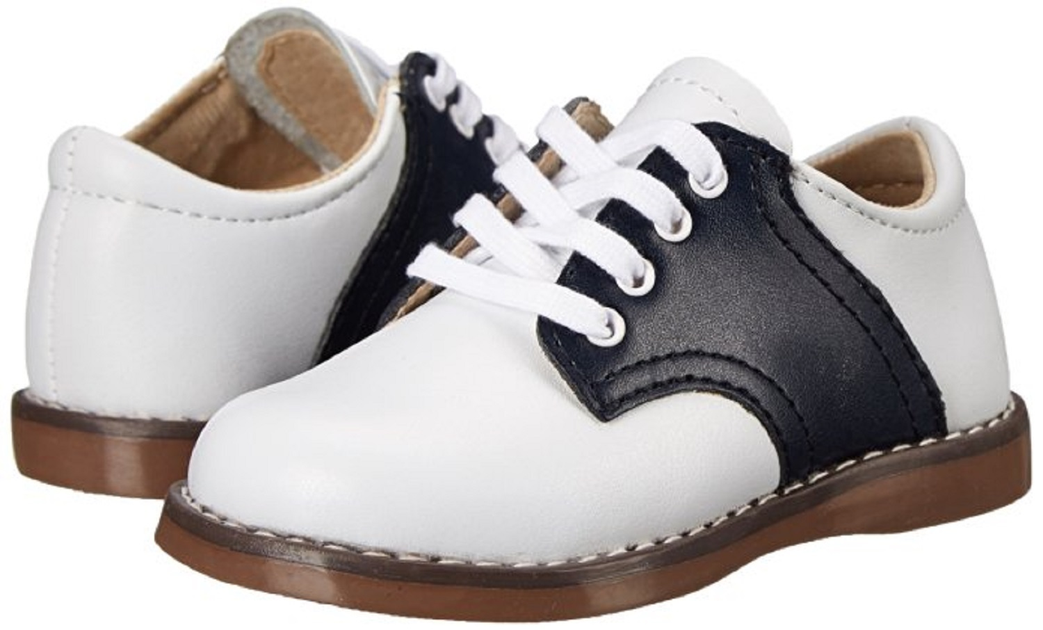 Navy White Saddle Oxford Shoes