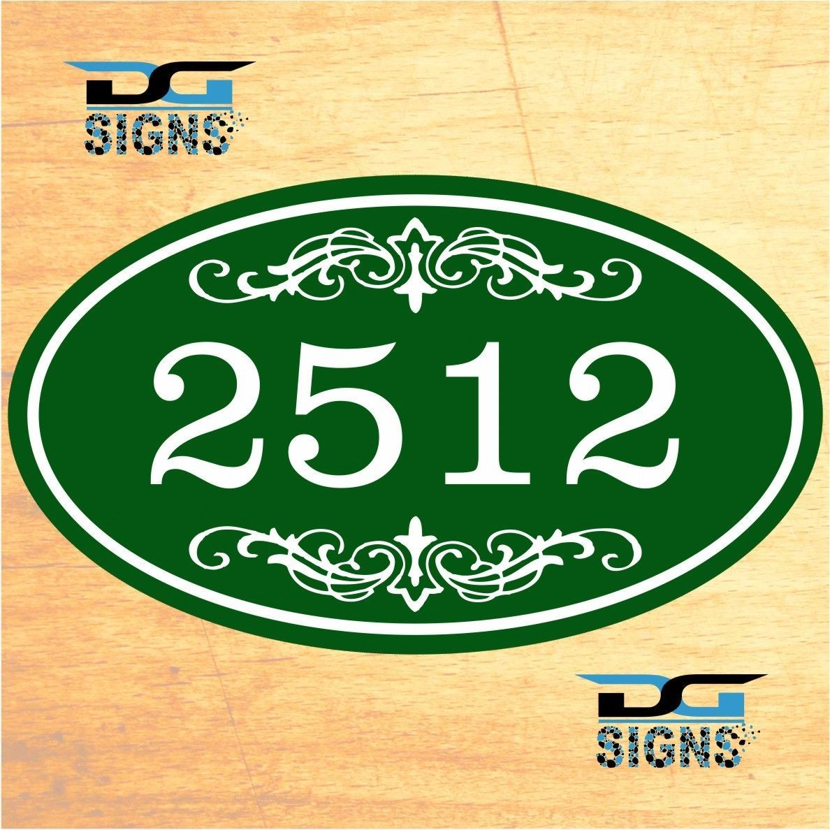 3008 personalized home address decorative custom plaque 12 x 7 aluminum sign ebay. Black Bedroom Furniture Sets. Home Design Ideas
