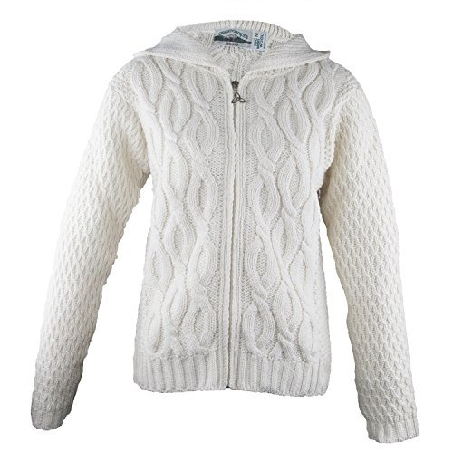 Women'S Merino Wool Irish Sweater 100