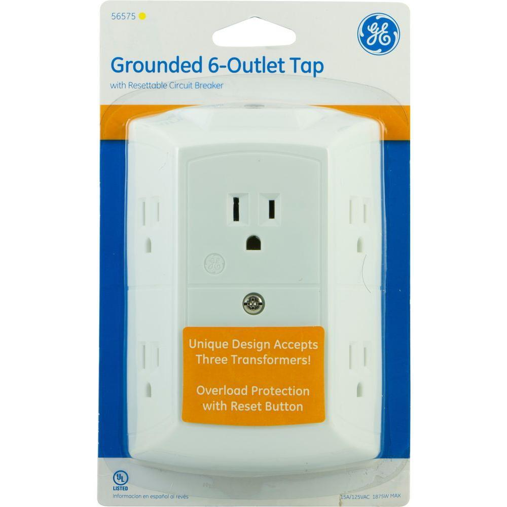 Ge Handy Switch Evaluate Hardware Circuit Breaker Timer Ebay Details About 6 Outlet Grounded Tap With Resettable