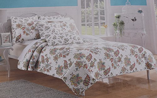 7-Piece Cynthia Rowley Colorful Floral Paisley Quilt, Shams, Sheet Bedding Set