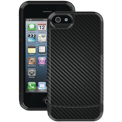 HA1004-9025 IPHONE 5 VANDELAY II CASE WITH HOLSTER (CARBON FIBER OUTER INLAY, BLACK INNER LINER, MOLDED SHELL)