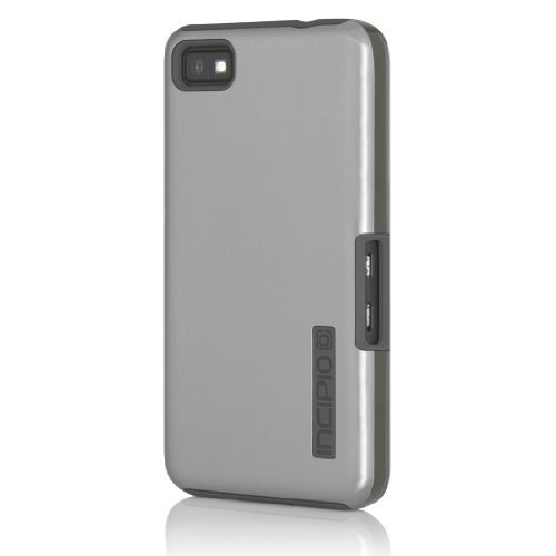 Incipio  DualPro Shine Case for BlackBerry Z10 - 1 Pack - Retail Packaging (Silver / Charcoal)