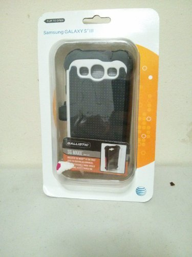 Ballistic SG Maxx Case for Samsung Galaxy SIII - 1 Pack - Retail Packaging - Charcoal/White