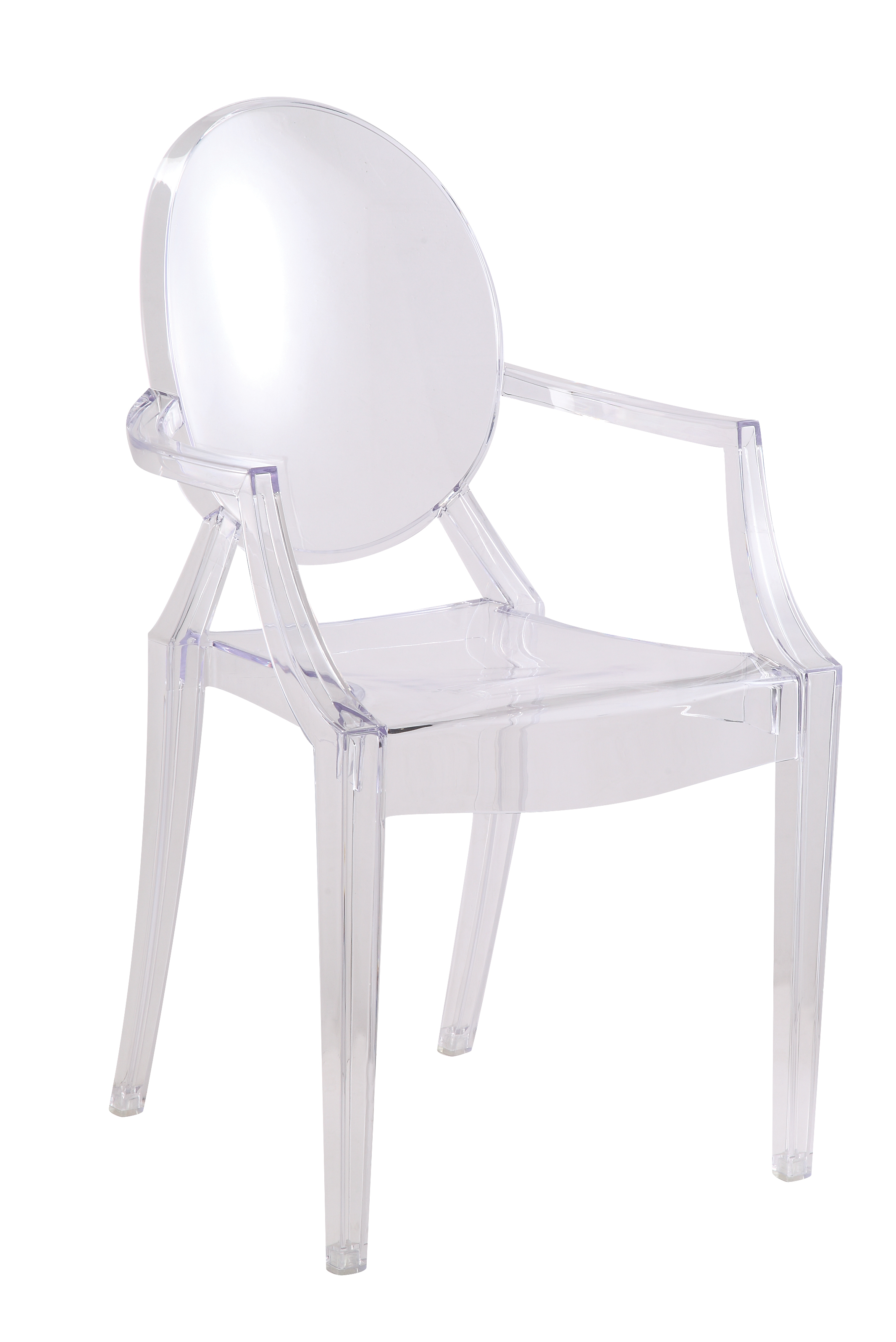 details about clear louis style acrylic arm chair clear